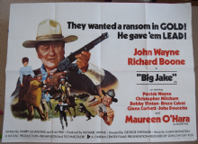 Big Jake, Original UK Quad Poster, John Wayne, Maureen O'Hara, '71